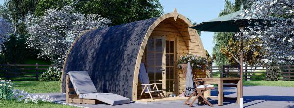 Abri de jardin en bois BRETA (28 mm), 3x5 m, 15 m²