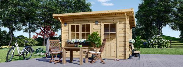 Abri de jardin à toit plat DREUX (44 mm), 5x4 m, 19.9 m²