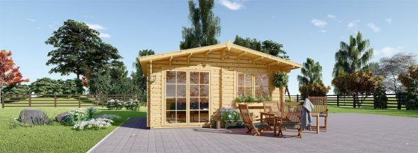 Abri de jardin en bois WISSOUS (34 mm), 5x4 m, 20 m²