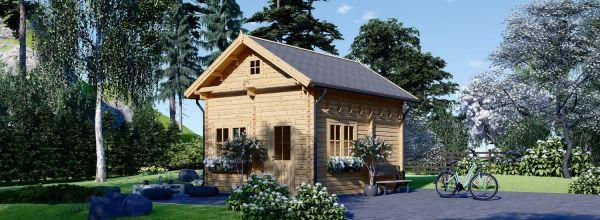 Chalet en bois avec étage AVIGNON (58 mm), 19.9 m² + 16 m²