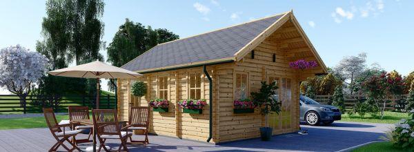 Chalet en bois avec mezzanine SCOOT (44 mm), 27 m² + 9 m²