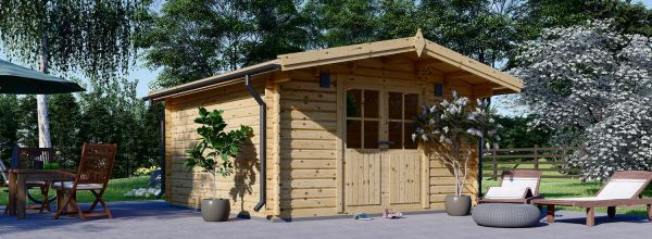 Abri de jardin en bois PALMA (34 mm), 4x4 m, 16 m²