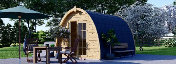 Abri de jardin en bois BRETA (28 mm), 3x4 m, 12 m²