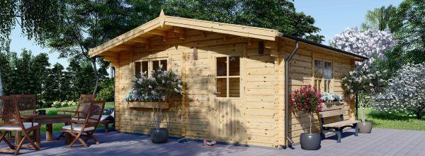 Abri de jardin en bois DREUX (Isolé RT2012, 44+44 mm), 6x6 m, 36 m²