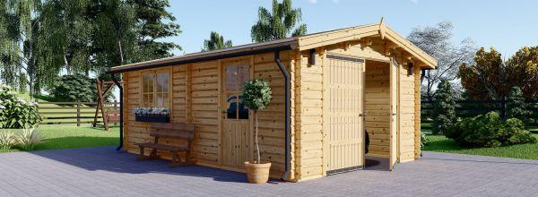 Garage en bois (44 mm), 4x6 m, 24 m²