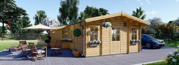 Chalet en bois DIJON (44 mm), 44 m²