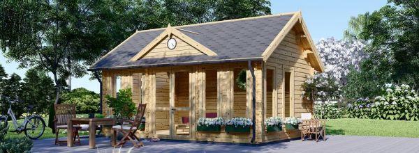 Abri de jardin en bois CLOCKHOUSE (44 mm), 5.5x4 m, 22 m²