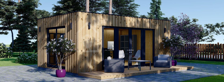 Bureau de jardin PREMIUM (Isolé RT2012, SIPS), 7x4 m, 28 m² visualization 1