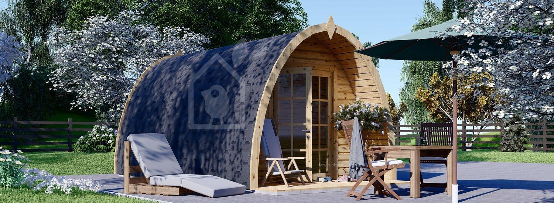Abri de jardin en bois BRETA (28 mm), 3x5 m, 15 m² visualization 1