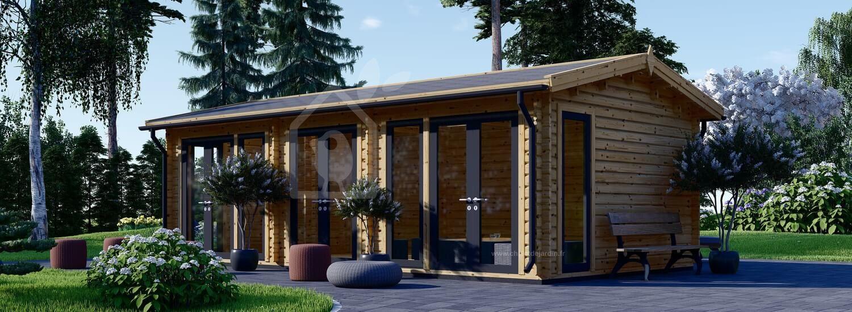 Studio de jardin MARION (Isolé RT2012, 44+44 mm), 7.5x4 m, 30 m² visualization 1
