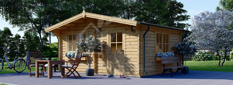 Abri de jardin en bois DREUX (66 mm), 5x4 m, 20 m² visualization 1