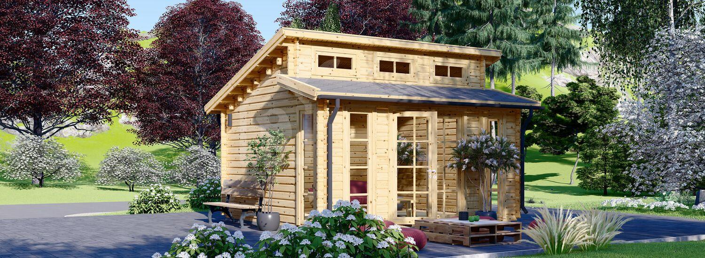 Abri de jardin en bois ALABAMA (44 mm), 4.5x4.5 m, 20 m² visualization 1