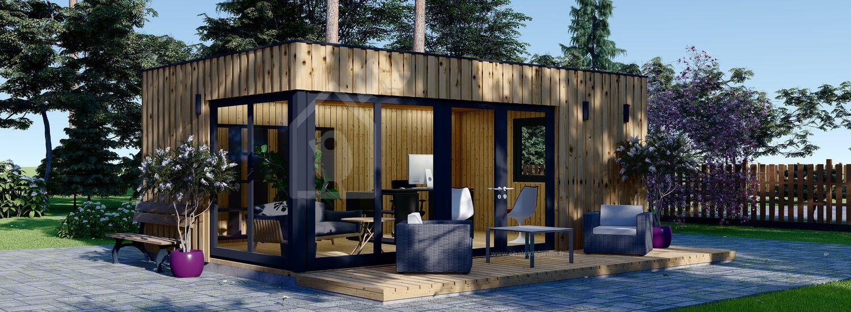 Bureau de jardin PREMIUM (Isolé RT2012, SIPS), 6x4 m, 24 m² visualization 1