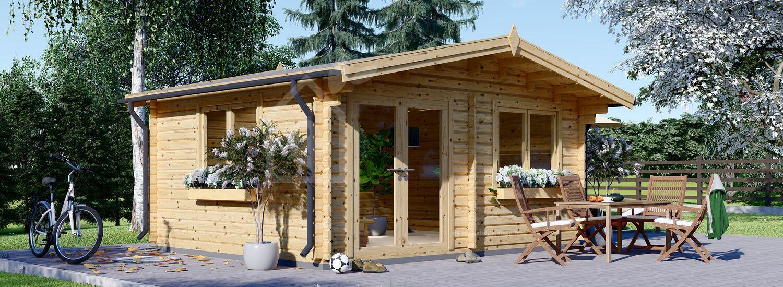 Abri de jardin WISSOUS (44+44 mm, RT2012), 5x5 m, 25 m² visualization 1