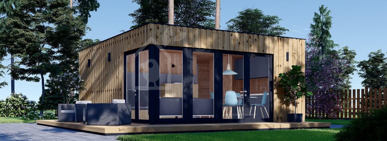 Studio de jardin PREMIUM (Isolé RT2012, SIPS), 6x5 m, 30 m² visualization 1