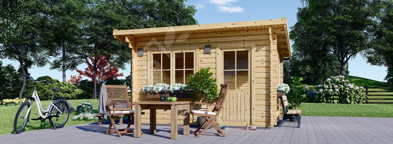 Abri de jardin à toit plat DREUX (44 mm), 4x3 m, 12 m² visualization 1