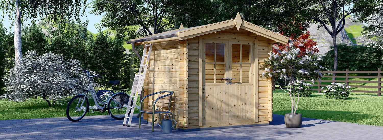 Abri de jardin en bois NANO (28 mm), 2.5x2 m, 5 m² visualization 1