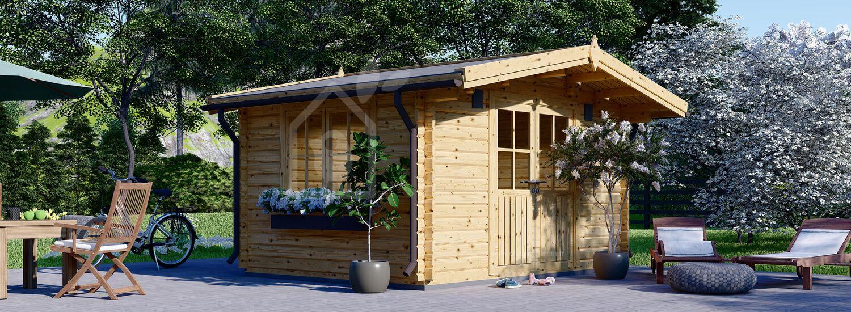Abri de jardin bois RENNES (34 mm), 4x3 m, 12 m² visualization 1