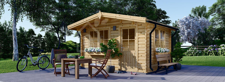 Abri de jardin en bois DREUX (44 mm), 4x4 m, 16 m² visualization 1