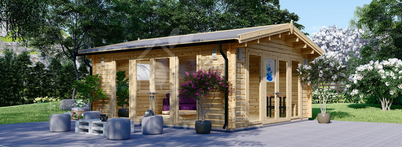 Abri de jardin en bois MIA (Isolé RT2012, 44+44 mm), 5.5x5.5 m, 30 m² visualization 1