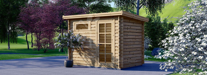 Abri de jardin en bois MODERN (28 mm), 3x2 m, 6 m² visualization 1