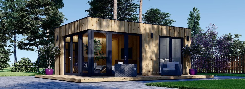 Studio de jardin PREMIUM (Isolé RT2012, SIPS), 6.5x4.5 m, 30 m² visualization 1