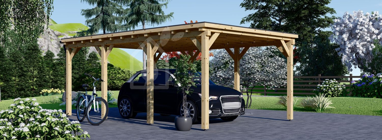 Carport en bois MODERN, 3x6 m, 18 m² visualization 1