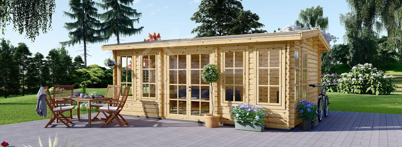 Abri de jardin en bois DEVON (44 mm), 6x4 m, 24 m² visualization 1