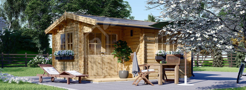 Abri de jardin en bois OSLO (Isolé, 44+44 mm), 5x4 m, 20 m² visualization 1