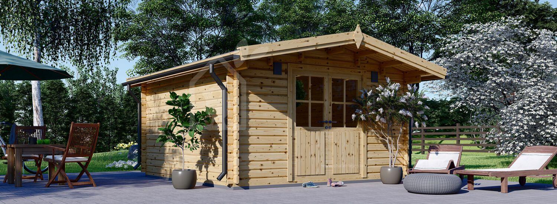 Abri de jardin en bois PALMA (34 mm), 4x4 m, 16 m² visualization 1