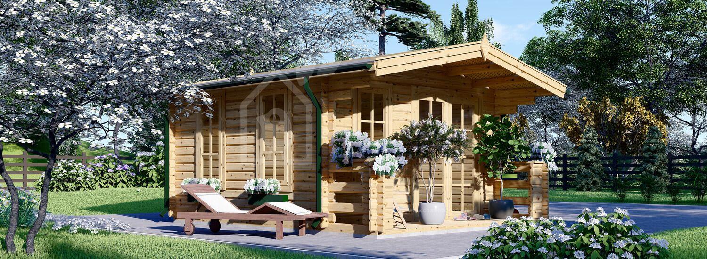 Abri de jardin en bois KING (Isolé, 44+44 mm), 4x5 m, 20 m² visualization 1