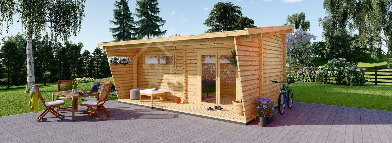 Abri de jardin en bois HORTA (44 mm), 6x3 m, 18 m² visualization 1