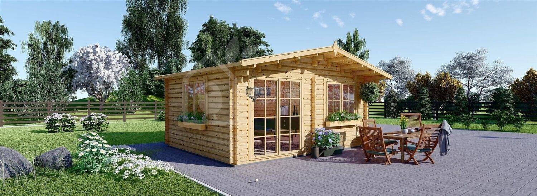Abri de jardin en bois WISSOUS (Isolé, 44+44 mm), 5x3 m, 15 m² visualization 1