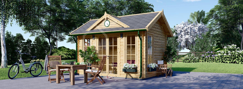 Abri de jardin en bois CLOCKHOUSE (Isolé, 44+44 mm), 4x3 m, 12 m² visualization 1