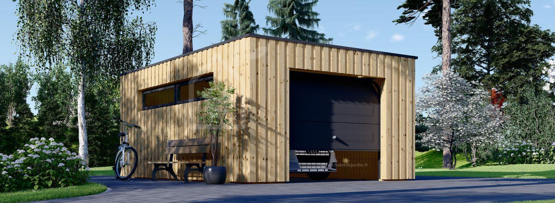 Garage bois toit plat STELA F (ossature en bois), 3.2x5.2 m, 16.6 m² visualization 1