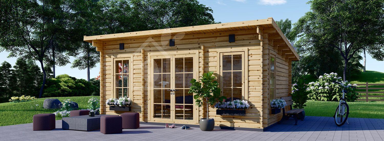 Abri de jardin en bois ESSEX (44 mm), 5x4 m, 19.9 m² visualization 1