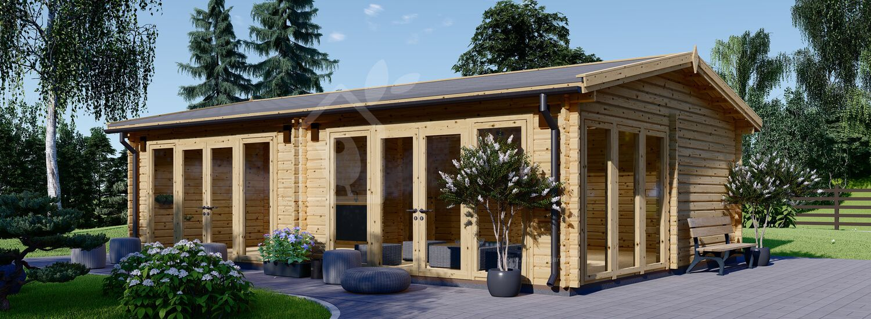 Studio de jardin MARINA (Isolé, 44+44 mm), 8x6 m, 48 m² visualization 1