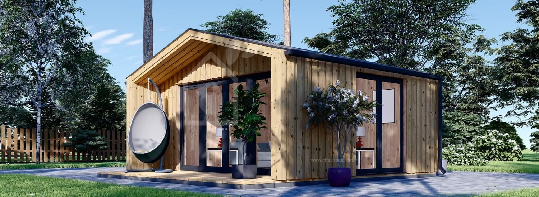 Abri de jardin en bois PIA (Isolé, ossature en bois), 5.2x4.9 m, 18 m² visualization 1