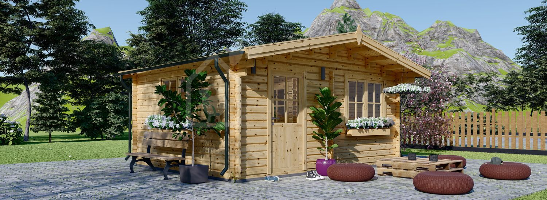 Abri de jardin NINA (44 mm), 5x5 m, 25 m² visualization 1