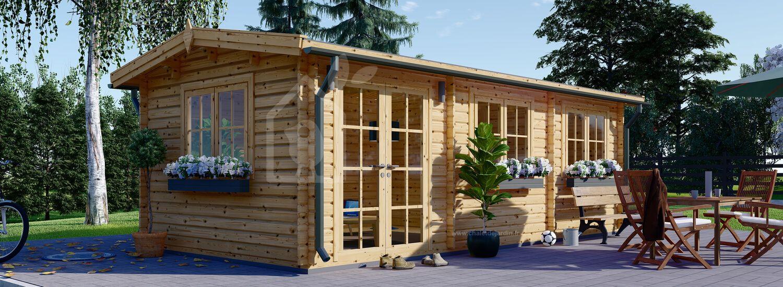 Abri de jardin en bois ELEONORA (44 mm), 6.6x3 m, 19.9 m² visualization 1
