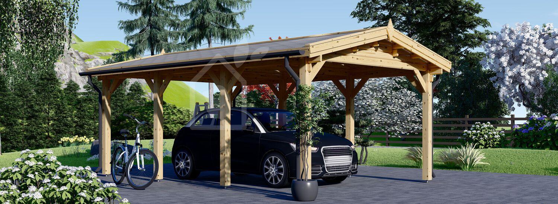Carport en bois CLASSIC, 3x6 m, 18 m² visualization 1