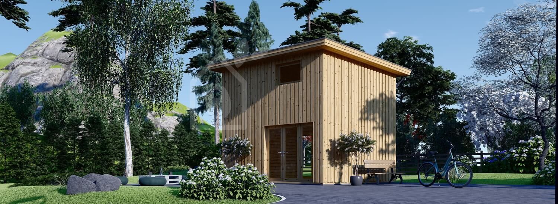 Studio de jardin LISA (44 mm + bardage), 21.84 m² visualization 1
