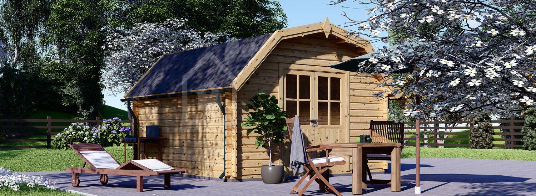 Abri de jardin en bois ORLANDO (34 mm), 4x4 m, 16 m² visualization 1