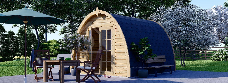 Abri de jardin en bois BRETA (28 mm), 3x4 m, 12 m² visualization 1