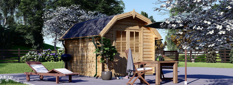 Abri de jardin en bois ORLANDO (34 mm), 3x3 m, 9 m² visualization 1