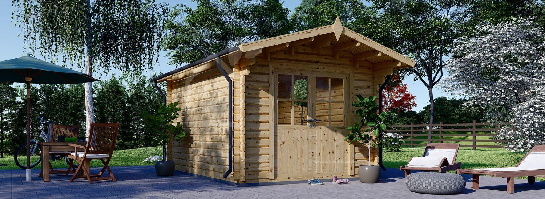 Abri de jardin en bois PETER (34 mm), 3x3 m, 9 m² visualization 1