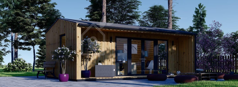Bureau de jardin TINA (Isolé RT2012, 44 mm + bardage), 7x4 m, 20 m² visualization 1