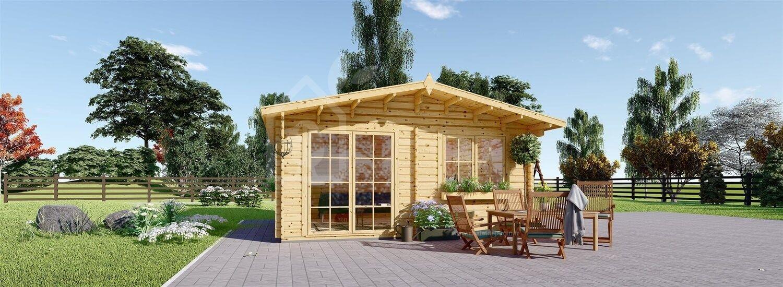 Abri de jardin en bois WISSOUS (34 mm), 4x3 m, 12 m² visualization 1