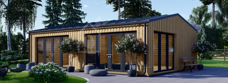 Studio de jardin MARINA Modern (Isolé, 44 mm + bardage), 8x6 m, 48 m² visualization 1