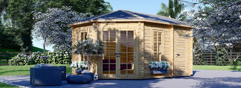 Abri de jardin KIM (44 mm), 5x3 m, 15 m² visualization 1